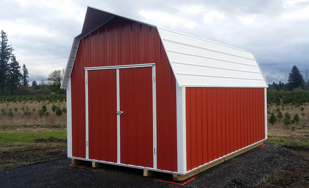 Mini barns pole buildings in clackamas or locke buildings for Barn builders oregon